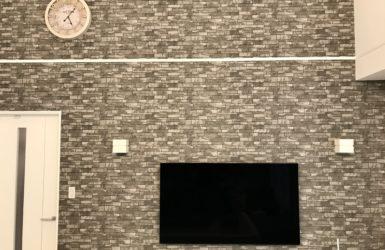 注文住宅の壁掛けテレビ
